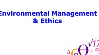 Environmental Management & Ethics course image