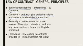 Indian Contract Act 1872: Must for all Finance Professionals course image