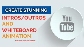 Create stunning intros/outros and whiteboard animation.step-by-step course image