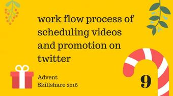 work flow process of scheduling videos and promotion course image