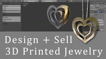 Design + Sell 3-D Printed Jewelry On Shapeways [A Heart Pendant Project] course image