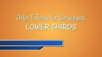 After Effects for Beginners: Design and Animate a Lower Third course image