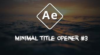 Minimal Title Opener in After Effects #3 course image