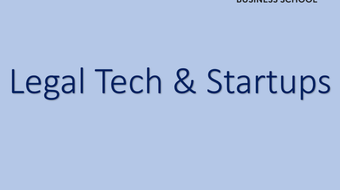 Legal Tech & Startups  course image