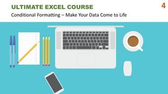 Ultimate Excel Course #4 - Conditional Formatting: Make Your Data Come to Life course image