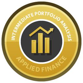 Intermediate Portfolio Analysis in R course image