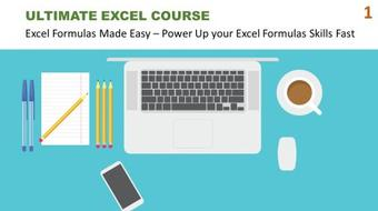 Ultimate Excel Course #1 - Excel Formulas Made Easy: Get Up to Speed with Excel Formulas Fast course image
