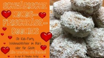 Schwäbische Kokos-Frischkäse-Cookies - In nur 15 Minuten fix und fertig! course image