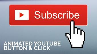 Animated YouTube Subscribe Button with Click in After Effects course image