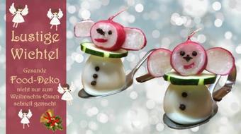 Lustige Wichtel - Gesunde Food-Deko nicht nur zum Weihnachtsessen - schnell gemacht course image