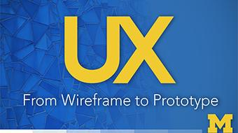 UX Design: From Wireframe to Prototype course image