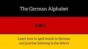 The German Alphabet course image