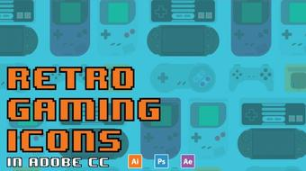 Retro Gaming Icons in Adobe CC 17 course image