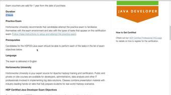 Hadoop Certifications - HDP Certified Developer - Java (HDPCD:Java) course image
