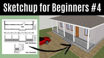 Sketchup For Beginners - How To Create Your First 3D House from Scratch With Sketchup (Part 4) course image