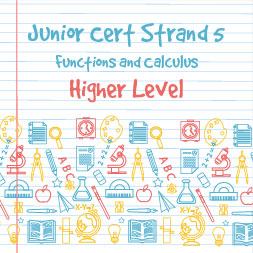 Junior Certificate Strand 5 - Higher Level - Functions and Calculus course image
