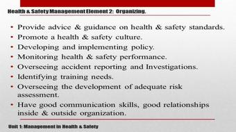 NEBOSH: HEALTH and SAFETY Management System PART 2 course image