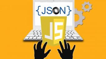 Learn JSON with JavaScript Objects and APIs in 1 hour course image