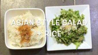 Asian Style Salad+Rice, the All-time Perfect Lunch course image