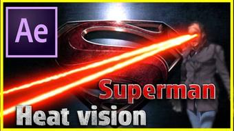 Superman's Heat Vision Tutotial | After Effects CC 2017 | Visual Effects course image