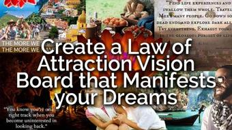 Create a Law of Attraction Vision Board that Manifests your Dreams course image