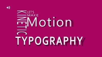 3D Kinetic Typography Animation with Icon Sync up in  Adobe After Effects course image