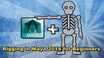Rigging in Maya 2016 for Beginners- Part 1 (5 hours) course image