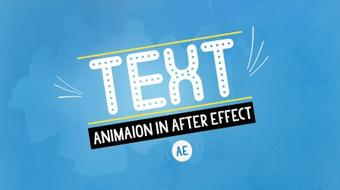 Mastering Text Animation in After Effect course image