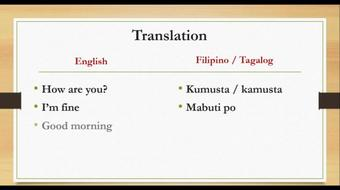 ENGLISH - FILIPINO: Traveler's quick guide to learning the Filipino language and culture course image