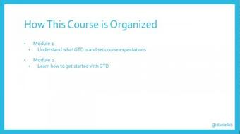 Quick Start to GTD course image