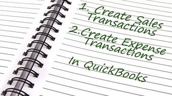 Sales and Expense Transactions In QuickBooks course image