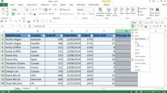 Microsoft Excel tables - A great underused feature ! course image