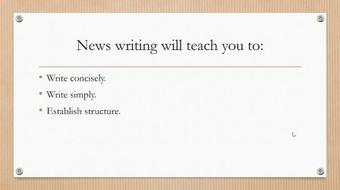 Writing a Perfect News Article course image