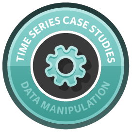 Manipulating Time Series Data in R: Case Studies course image
