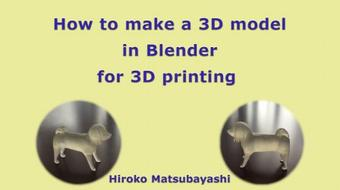How to make a 3D model in Blender for 3D printing course image