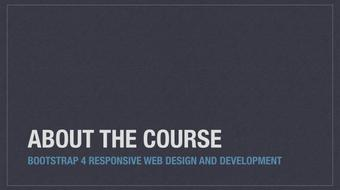 Bootstrap 4 Responsive Web Design and Development course image