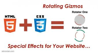 Web Design with HTML5 + CSS3 Special Effects :: Create Rotating Gizmos course image