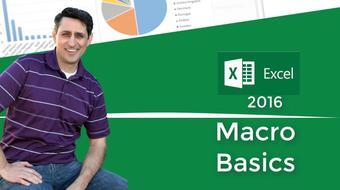 Excel 2016 Macro Basics including VBA course image