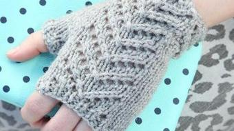 One Skein Accessories: Fingerless Chevron Mitts course image