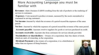 """Get an """"A"""" in Financial Accounting - Topic #1 -The Language of Business course image"""