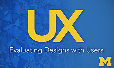 Evaluating Designs with Users course image
