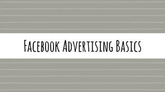 Facebook Advertising Basics Part 1 course image