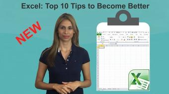 Excel: Top 10 Tips to Become Better in Excel course image