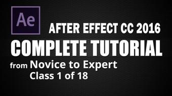 After Effects 2016 - Creating Your First Motion Graphics Video - Class 1 of 18 course image