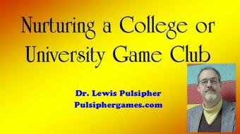Nurturing a College or University Game Club course image
