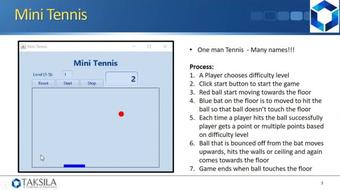 Java By Example (Project 10) - Mini Tennis course image