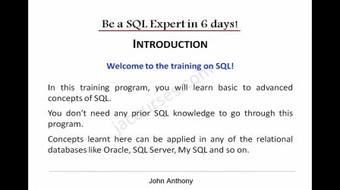 Learn SQL in 6 days course image
