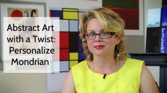 Abstract Art with a Twist: Personalize Mondrian course image