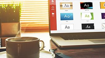 Introduction to Microsoft PowerPoint 2016 course image