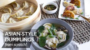 How To Make Asian-Style Dumplings From Scratch! course image